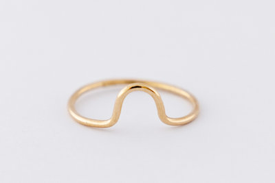 Gouden ring Holly